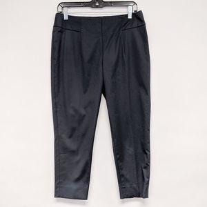 akris punto   gray cropped cotton blend pants sz 8